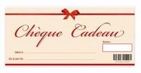 cheque cadeau valeur 25 € HTVA